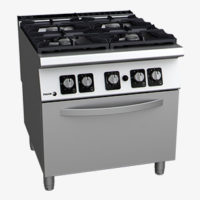 Gas cookers with oven